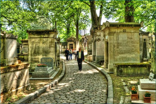 Pere Lachaise Cemetery makes for a nice relief from the bustle of the city
