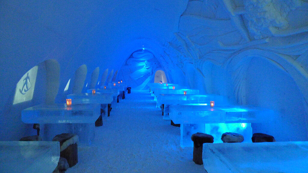 The ice bar at the snow hotel in Kemi