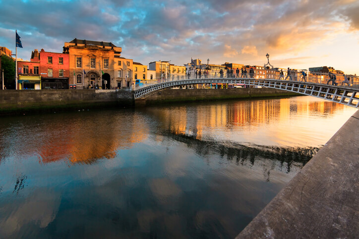 Dublin Ireland Sunset