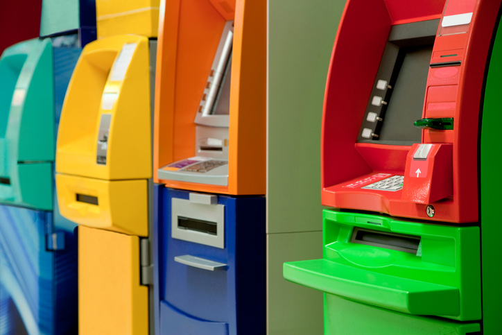 Colorful Cash Machines.