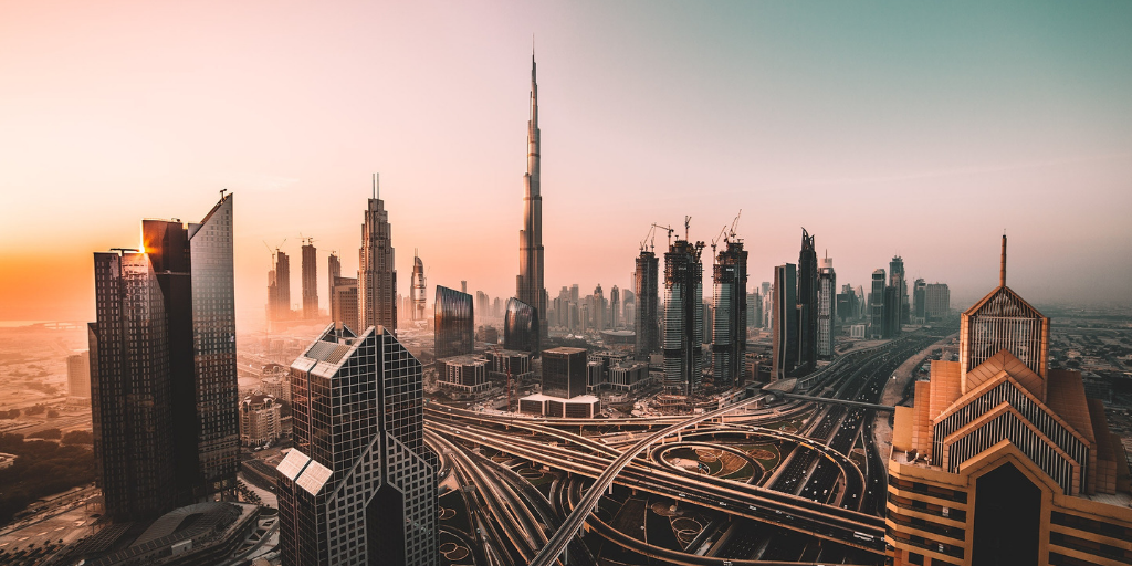 Skyline of Dubai